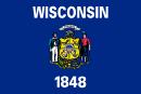 флаг штата Висконсин