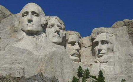 Президенты, вырезанные на скале, штат Южная Дакота