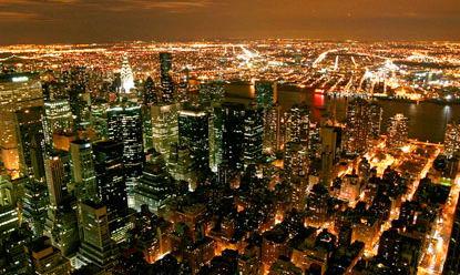Нью Йорк - красота ночного города